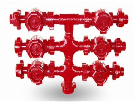 Offshore platform cementing valve group